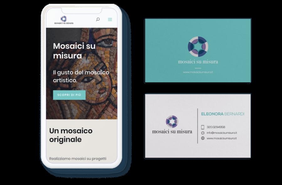 Mosaici su Misura | Sito web e immagine coordinata | Beltane Design