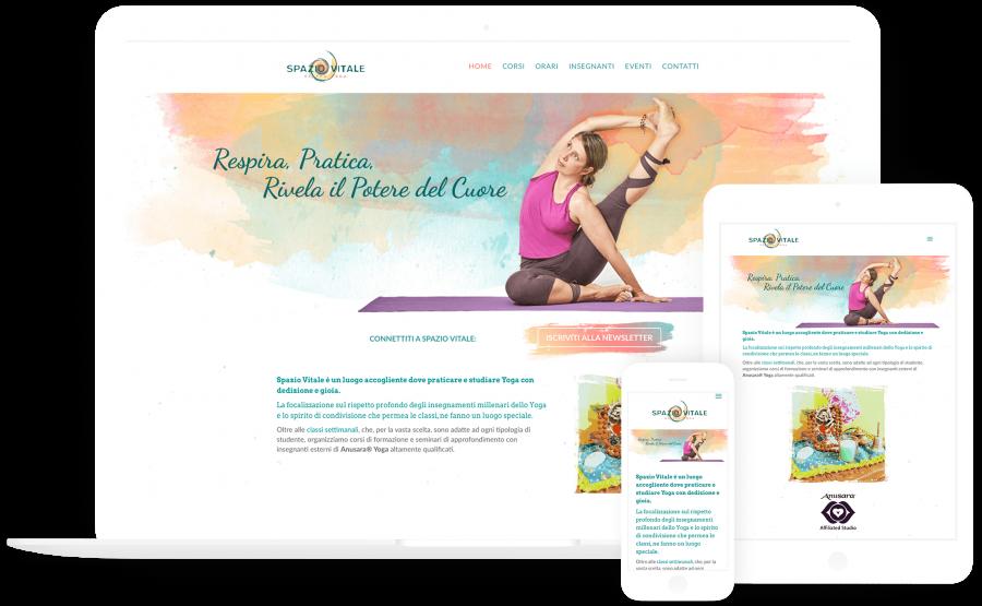 Spazio Vitale Yoga | sito web realizzato da Beltane Design
